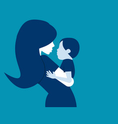 mother with her baby concept mother day vector image