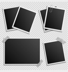 photo frames set - digital photo frames vector image