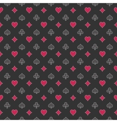 Poker seamless pattern vector image