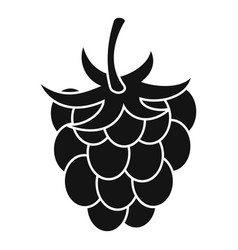raspberry or blackberry icon simple style vector image