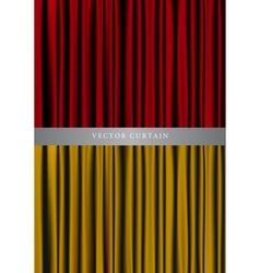 red and gold curtain vector image