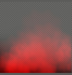 Red fog or mist color special smoke effect vector