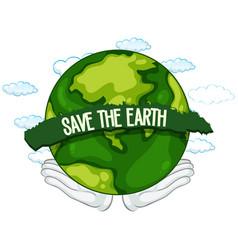 save earth icon vector image