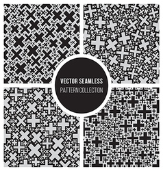 Seamless Cross Jumble Mosaic Pattern Collection vector
