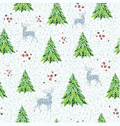 seamless pattern for christmas background vector image