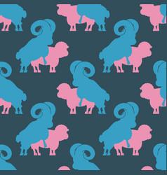 sheep sex pattern farm animal intercourse vector image