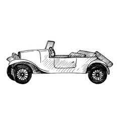 sketch retro car vector image