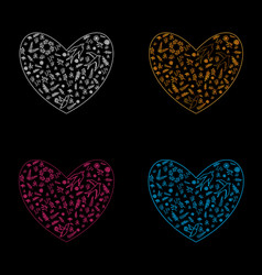 spring and valentine s day floral pattern vector image