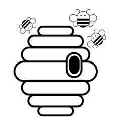 Swarm icon outline style vector