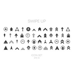 Swipe up big collection icons different style vector