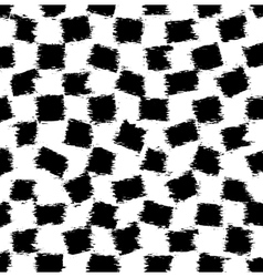 The pattern of black grunge rectangles vector image