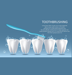 Toothbrushing medical poster banner design vector