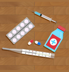 treatment of influenza and colds vector image