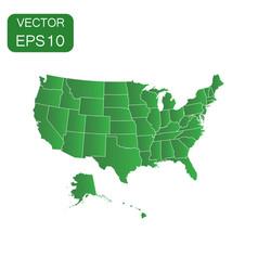 usa map icon business concept america politics vector image
