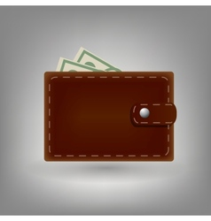 Wallet icon isolated on white background vector image