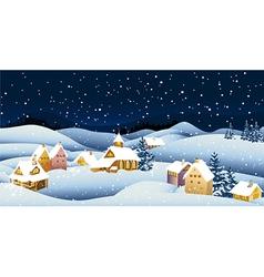 Winter town vector image