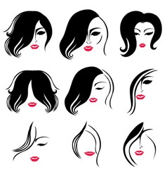 Woman hair vector