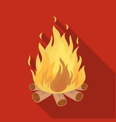 bonfiretent single icon in flat style vector image