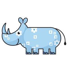 cartoon rhinoceros vector image vector image