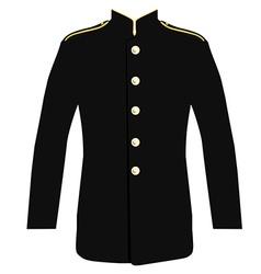 Police uniform jacket vector image vector image
