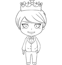 Prince Coloring Page 1 vector image vector image