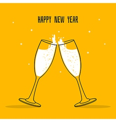 Two Glasses of champagne vector image vector image