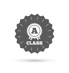 A-class award sign icon Premium level symbol vector image
