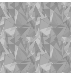 Abstract gray triangular seamless pattern vector image
