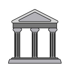 Colorful realistic image parthenon architecture vector