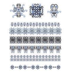 set of line and art frames vector image vector image