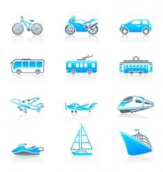 transportation icons marine vector image