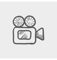 Video camera sketch icon vector image