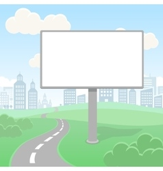 Blank empty billboard screen and urban vector image vector image