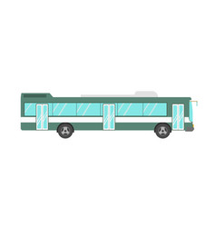 green colored bus isolated on white vector image vector image