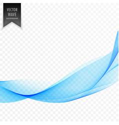 modern blue wavy shape element design vector image
