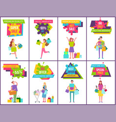 premium quality collection on vector image