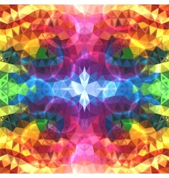 Rainbow colors abstract shining triangles vector image vector image