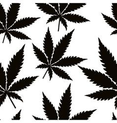 Seamless marijuana leaves vector image