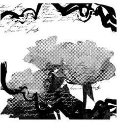 stylized grunge background vector image vector image