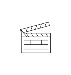 Clapper board line icon vector image