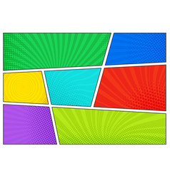 horizontal comics backdrop bright template with vector image vector image