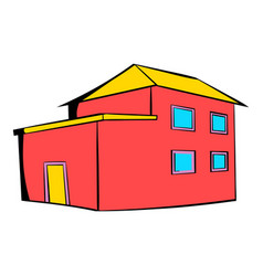 red house icon icon cartoon vector image vector image