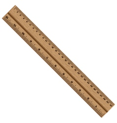 Ruler Wooden ruler isolated on white background vector image