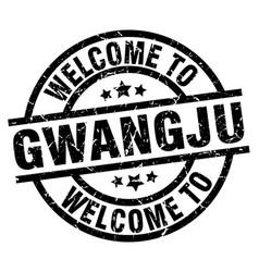 Welcome to gwangju black stamp vector