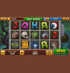 zombie background for slots game vector image vector image