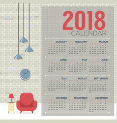 2018 cozy living room flat design printable vector