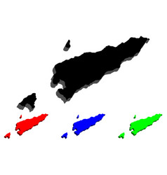3d map of east timor vector image