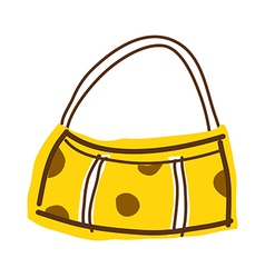 A view of hand bag vector