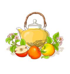 apple tea vector image