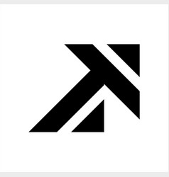 At ta initials geometric letter company logo vector